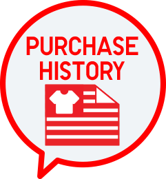 purchase history text bubble