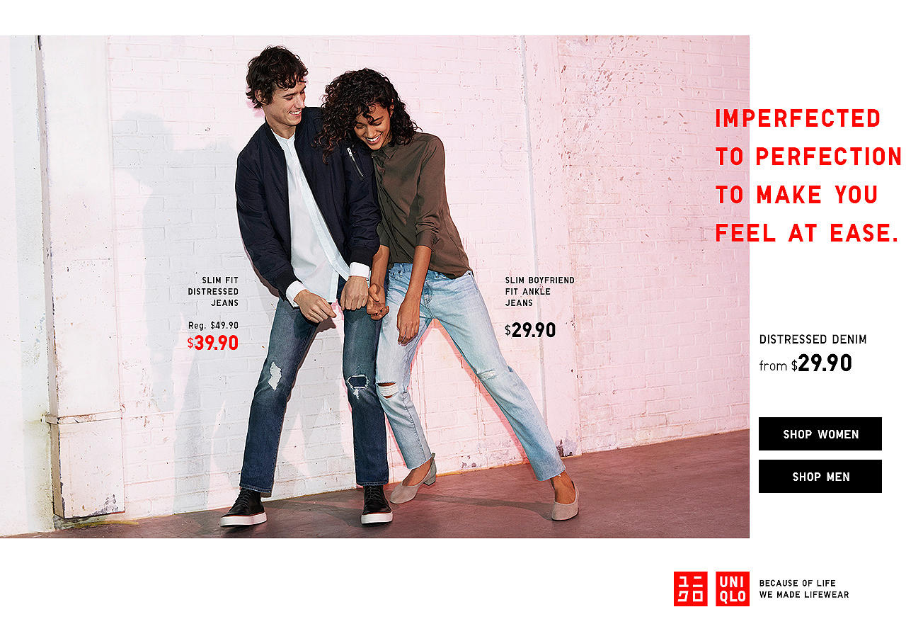 UNIQLO Distressed Denim