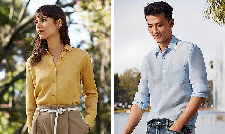Experience everyday luxury with breathable,light linen shirts.