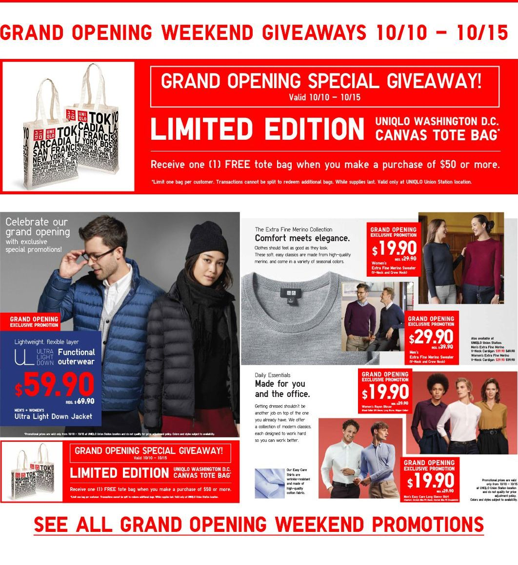 Union Station - Grand Opening Weekend Giveaways