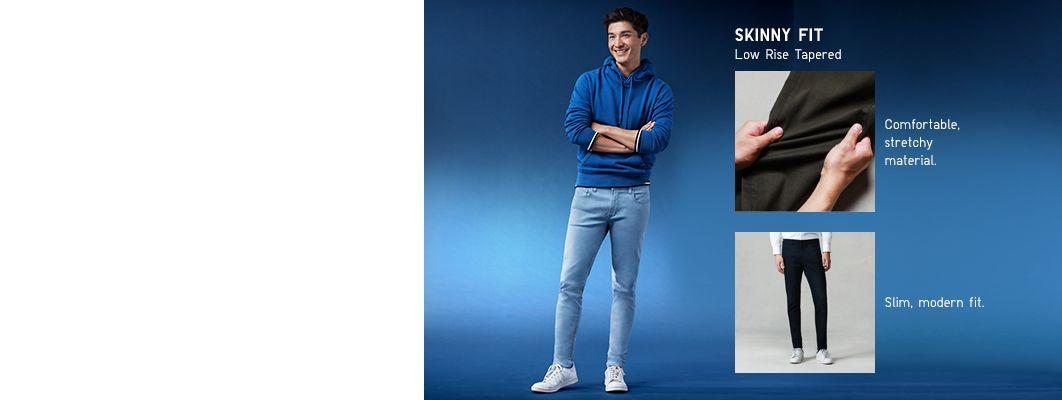 men's skinny fit color jeans