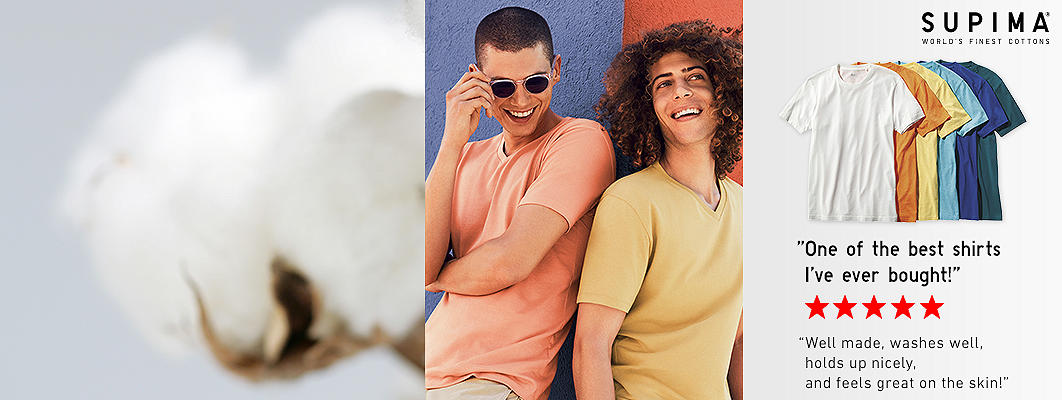 Supima Cotton T-Shirts: Feels luxe against the skin.