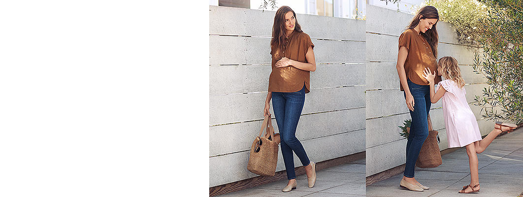 maternity jeans category banner image