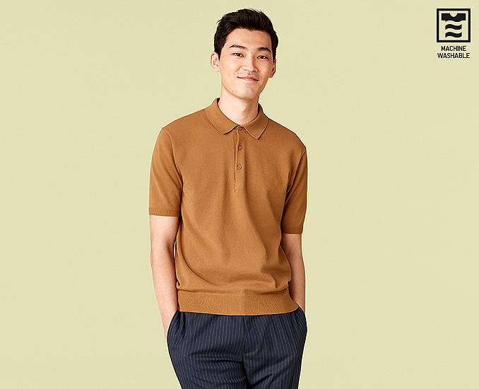 WASHABLE KNITTED POLO SHIRTS