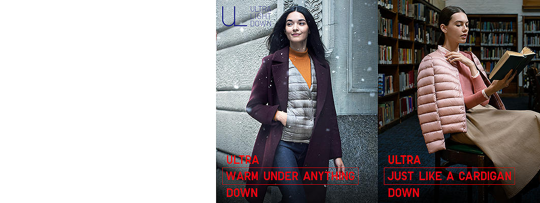 Ultra light down collection - compact jackets and coats