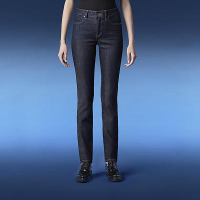 shop by feature - high rise slim fit jeans - link to section