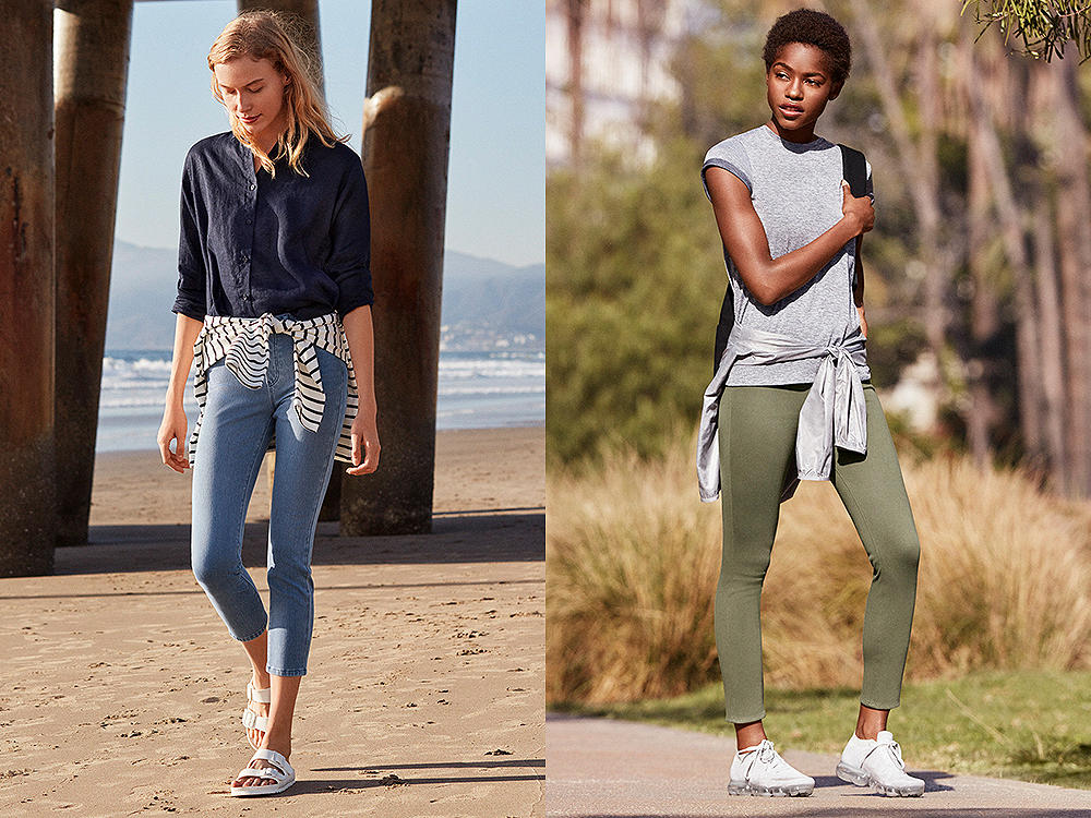 Slim, stylish pants with a fresh length for the season.
