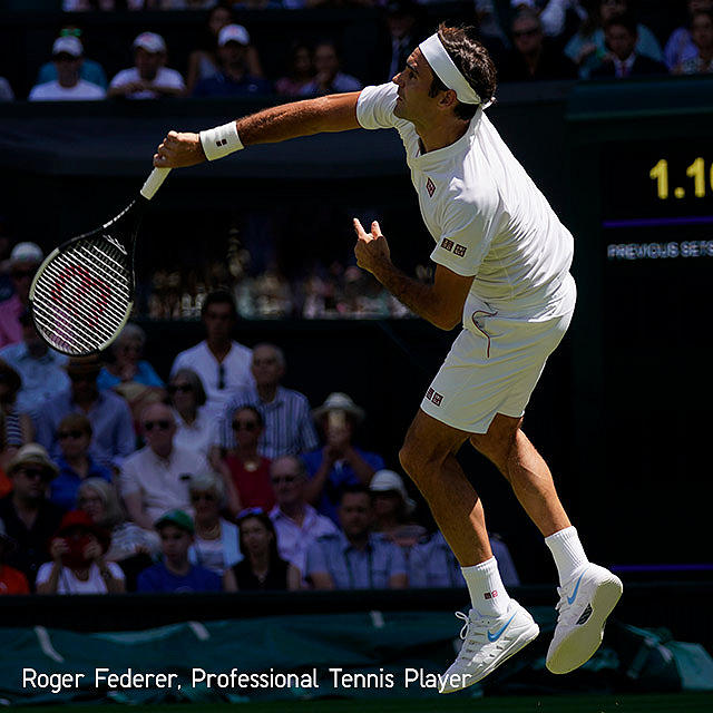 Roger Federer in Gamewear Set