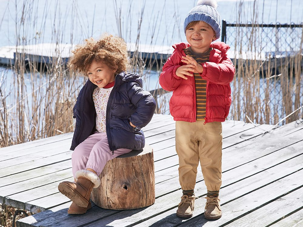 boys warm padded parkas