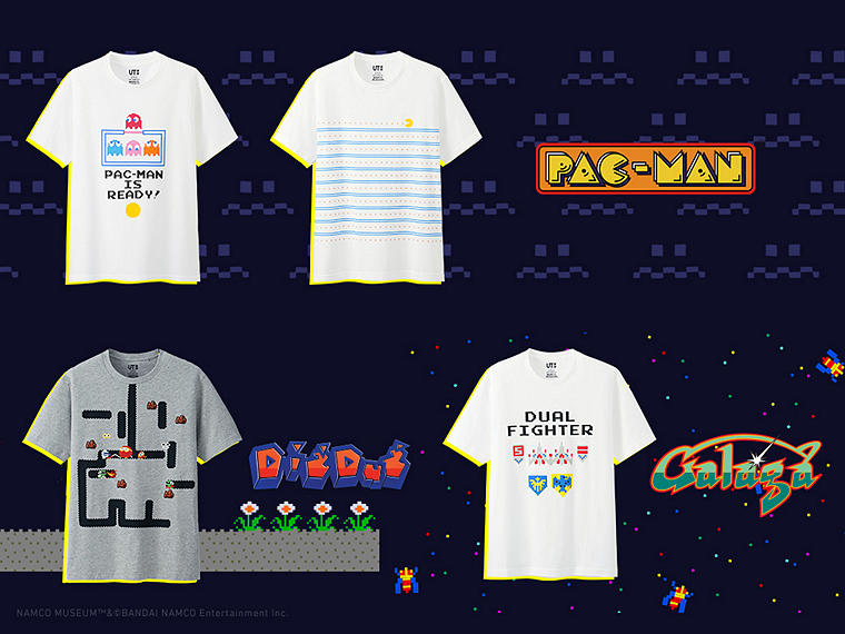 Wear tees inspired by PAC-MAN and other influential arcade classics.