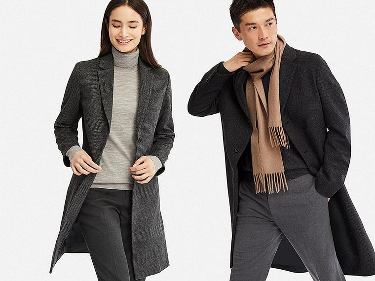 Staying warm has never looked so good as in this light, slim overcoat.