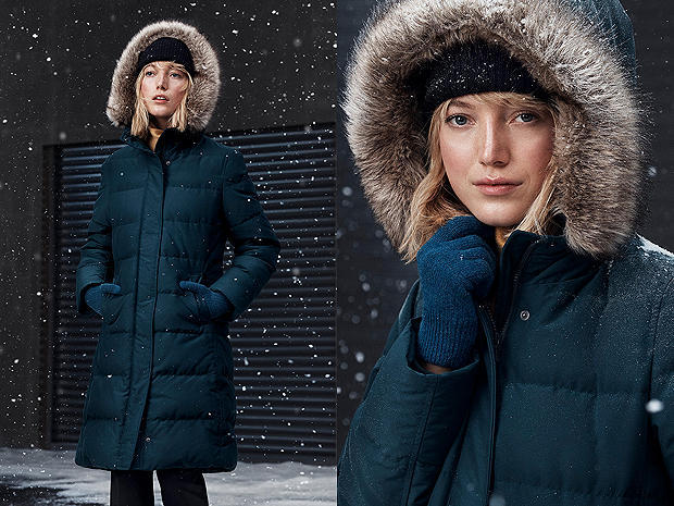 OUR WARMEST DOWN COAT — ONLY ONLINE