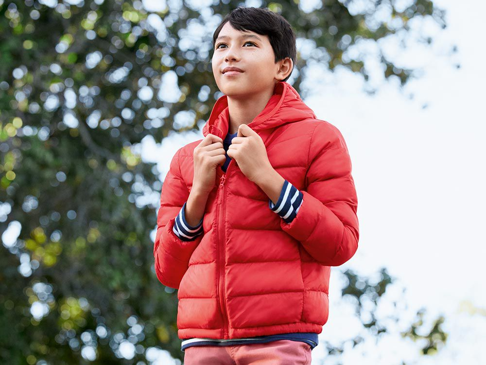 kids warm padded