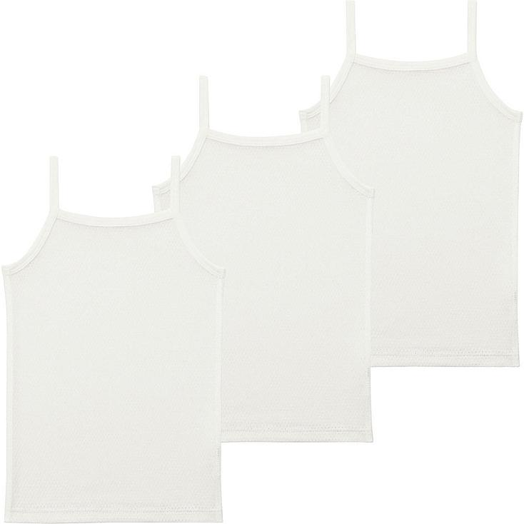 Toddler Mesh Camisole, 3-Pack, WHITE, large