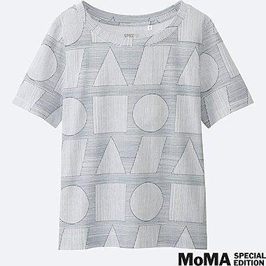 WOMEN SPRZ NY Super Geometric GRAPHIC T-SHIRT (SOL LEWITT), WHITE, medium