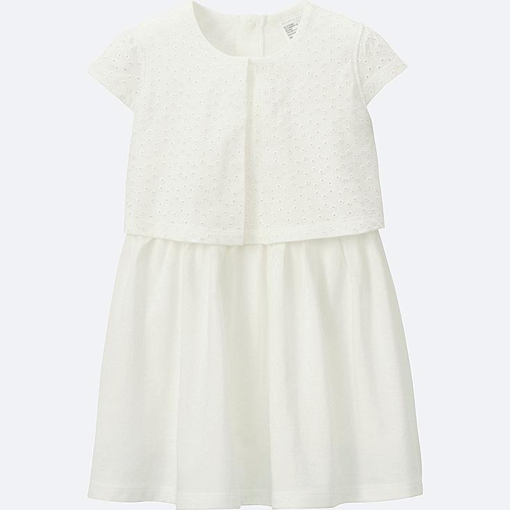 TODDLER CUT&SEWN SLEEVELESS DRESS, WHITE, large