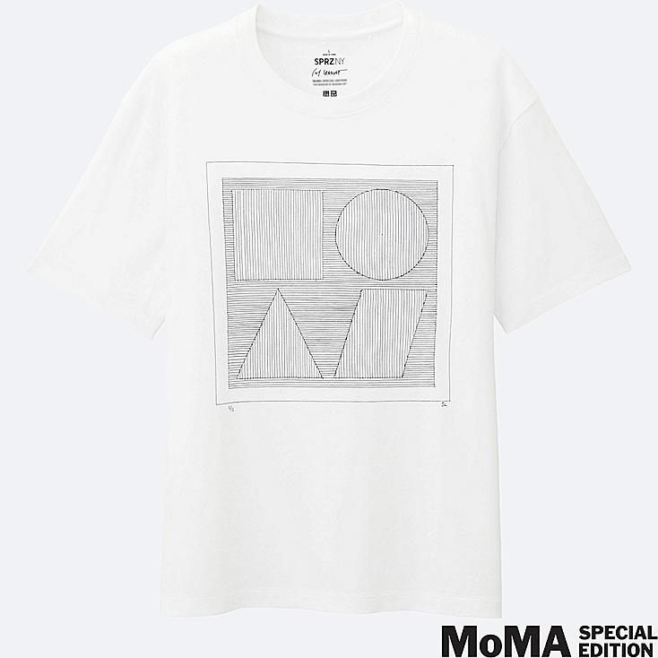 MEN SPRZ NY Super Geometric GRAPHIC T-SHIRT (SOL LEWITT), WHITE, large