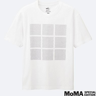 MEN SPRZ NY Super Geometric GRAPHIC T-SHIRT (FRANCIS MORELLET), WHITE, medium
