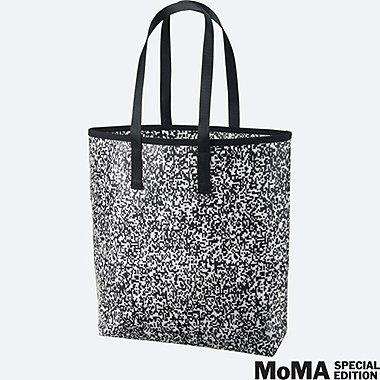 SPRZ NY SUPER GEOMETRIC TOTE BAG (FRANCOIS MORELLET), WHITE, medium