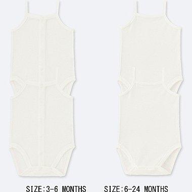 BABY COTTON MESH CAMISOLE BODYSUIT (SET OF 2), WHITE, medium