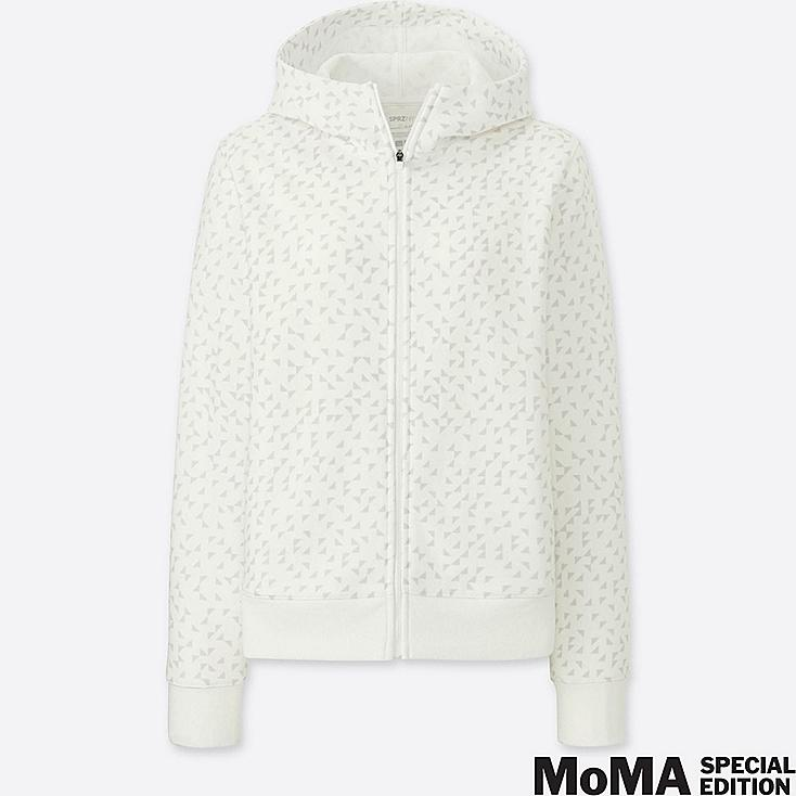 WOMEN SPRZ NY DRY STRETCH ZIP-UP HOODIE (ANNI ALBERS), WHITE, large