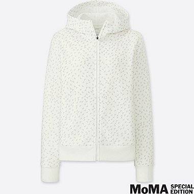 WOMEN SPRZ NY DRY STRETCH ZIP-UP HOODIE (ANNI ALBERS), WHITE, medium
