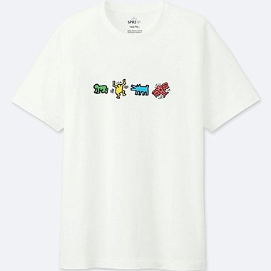 MEN SPRZ NY KEITH HARING SHORT-SLEEVE GRAPHIC T-SHIRT, WHITE, medium