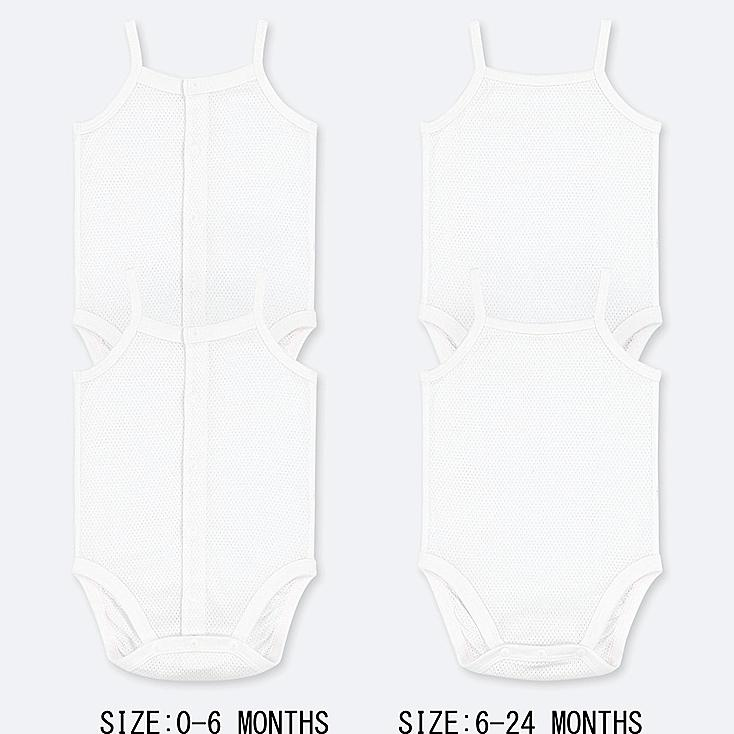 NEWBORN COTTON MESH INNER CAMISOLE BODYSUIT (SET OF 2) (ONLINE EXCLUSIVE), WHITE, large