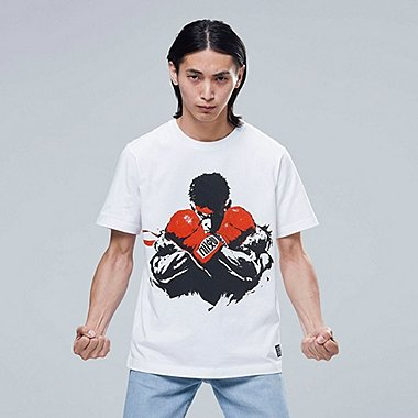 THE GAME BY STREET FIGHTER UT (SHORT-SLEEVE GRAPHIC T-SHIRT), WHITE, medium