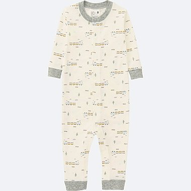 BABY LONG SLEEVE ONE PIECE OUTFIT, OFF WHITE, medium