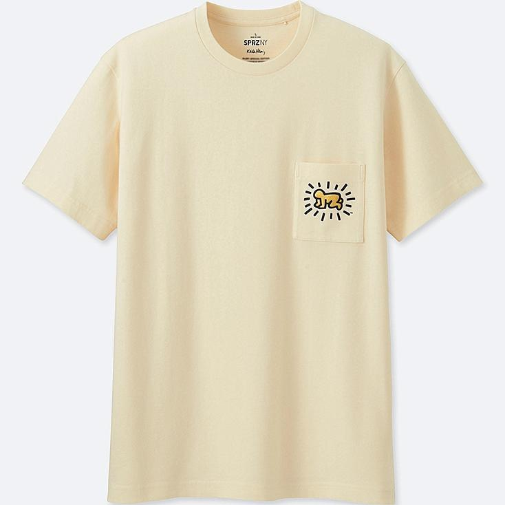 MEN SPRZ NY SHORT-SLEEVE GRAPHIC T-SHIRT (KEITH HARING), OFF WHITE, large