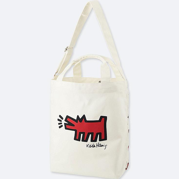 SPRZ NY TOTE BAG (KEITH HARING), OFF WHITE, large