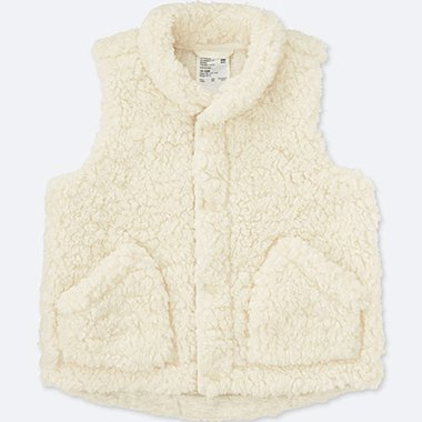 TODDLER FLUFFY YARN VEST, OFF WHITE, medium