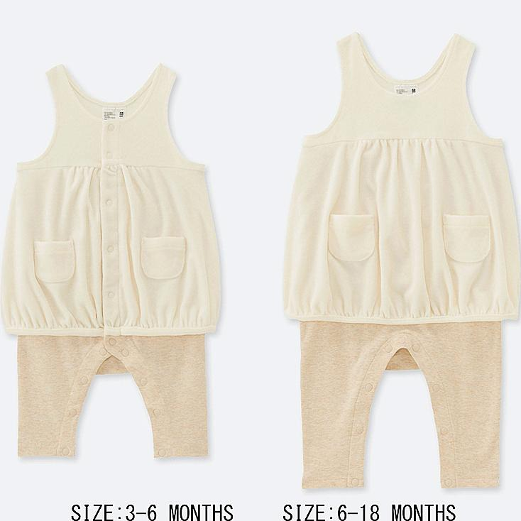 BABY OVERALL, OFF WHITE, large