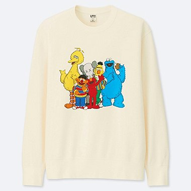 KAWS X SESAME STREET SWEATSHIRT, OFF WHITE, medium