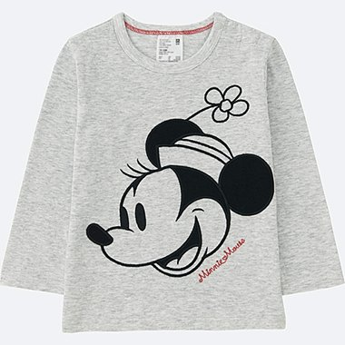 TODDLER DISNEY COLLECTION LONG-SLEEVE CREWNECK T, LIGHT GRAY, medium