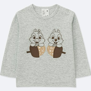 TODDLER DISNEY TEXTILE CREWNECK LONG-SLEEVE T-SHIRT, LIGHT GRAY, medium