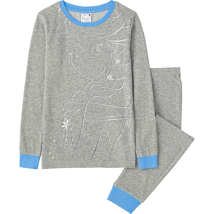 GIRLS Disney Project Long Sleeve Pajamas, GRAY, large