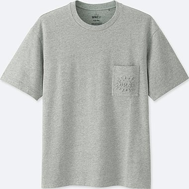 MEN SPRZ NY SHORT SLEEVE GRAPHIC T-SHIRT (KEITH HARING), GRAY, medium