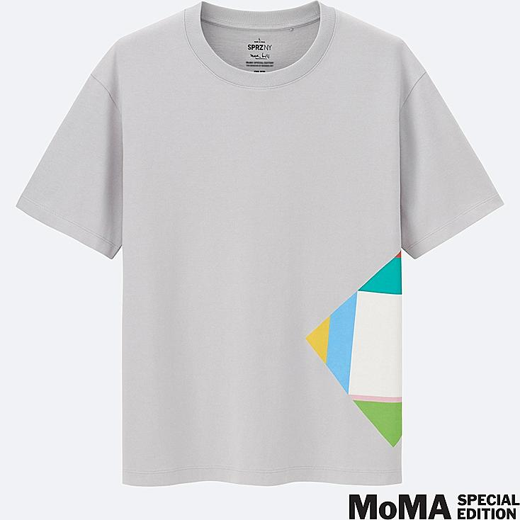 MEN SPRZ NY Super Geometric GRAPHIC T-SHIRT (MAX BILL), GRAY, large