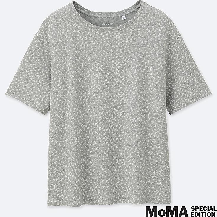 WOMEN SPRZ NY  SHORT-SLEEVE GRAPHIC T-SHIRT (Anni Albers), GRAY, large
