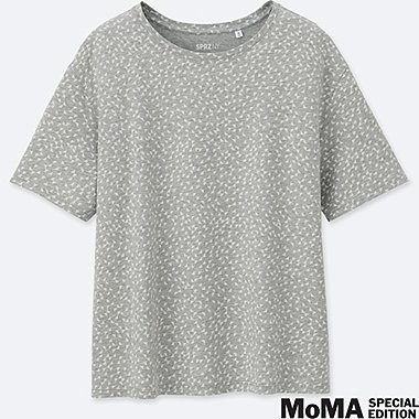 WOMEN SPRZ NY  SHORT-SLEEVE GRAPHIC T-SHIRT (Anni Albers), GRAY, medium