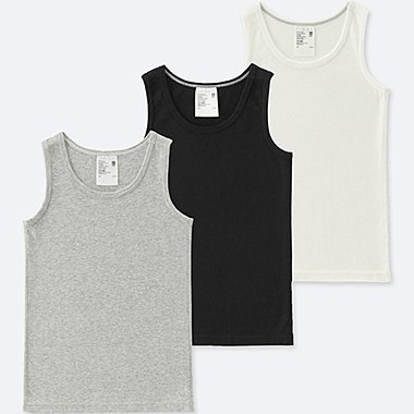 TODDLER COTTON INNER TANK TOP 3 PACK, GRAY, medium