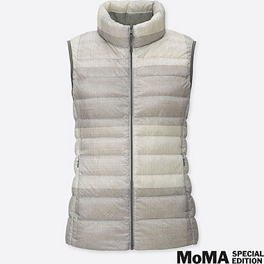 WOMEN SPRZ NY SOL LEWITT ULTRA LIGHT DOWN VEST, GRAY, medium