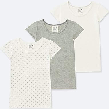TODDLER COTTON MESH SHORT-SLEEVE T-SHIRT (SET OF 3), GRAY, medium
