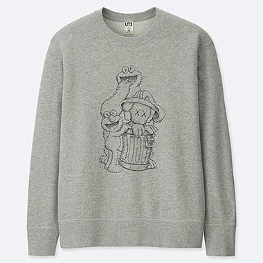 KAWS X SESAME STREET SWEATSHIRT, GRAY, medium
