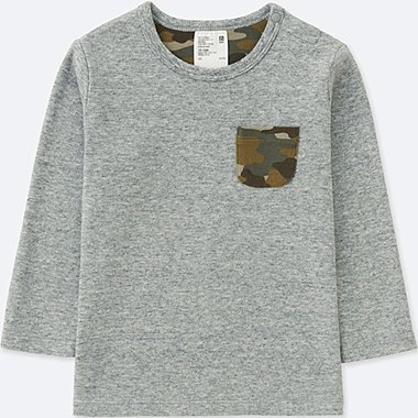 TODDLER CREW NECK LONG-SLEEVE T-SHIRT, GRAY, medium