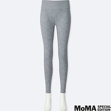 WOMEN SPRZ NY AIRism LEGGINGS (SOL LEWITT), GRAY, medium