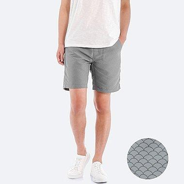 Men Swim Active Printed Shorts, GRAY, medium