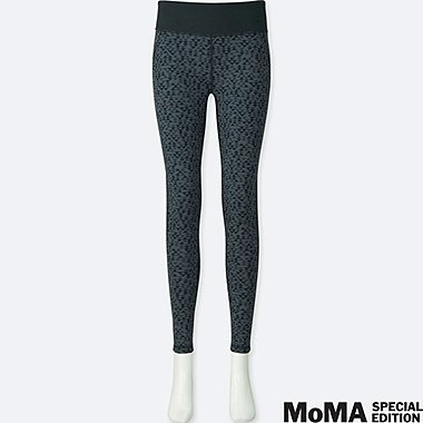 WOMEN SPRZ NY AIRism LEGGINGS (ANNI ALBERS), GRAY, medium